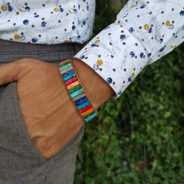 Bracelet des 7 Chakras en Jasper