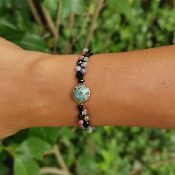 Bracelet en pierre de fluorite